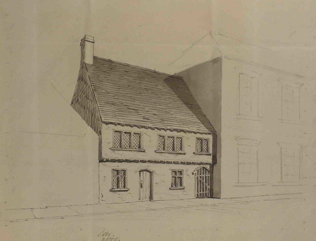Beccles Townlands Trust - Guildhall line drawing