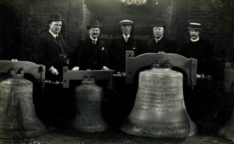 Beccles Church - Ceremony of Dedication to the rehanging of the bells 9th November 1909